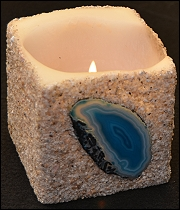 Everlasting Agate Candles